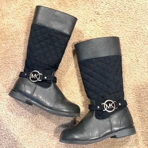 Girls MK Quilted Boots